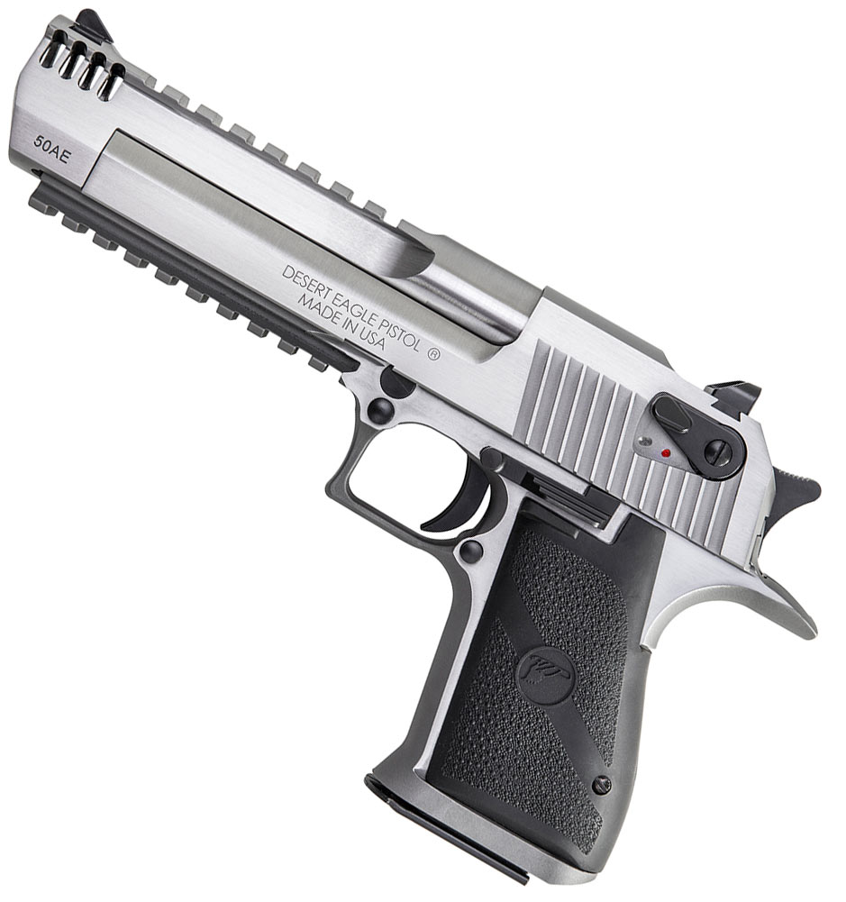 Magnum Research has produced a eye-catching version of its Desert Eagle, decked out in stainless steel.